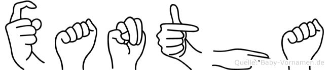 Xantha im Fingeralphabet der Deutschen Gebärdensprache
