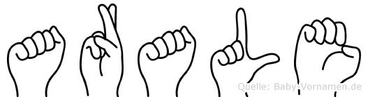 Arale in Fingersprache für Gehörlose