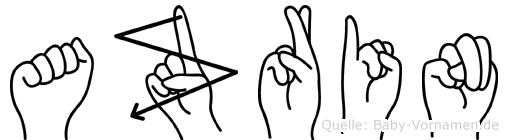 Azrin in Fingersprache für Gehörlose
