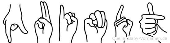 Quindt in Fingersprache für Gehörlose