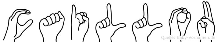 Caillou im Fingeralphabet der Deutschen Gebärdensprache