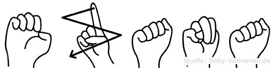 Ezana in Fingersprache für Gehörlose