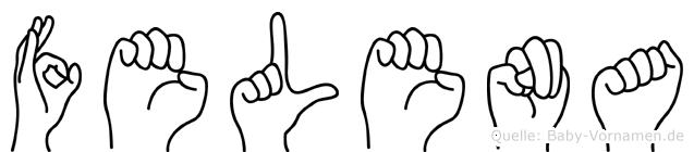 Felena im Fingeralphabet der Deutschen Gebärdensprache
