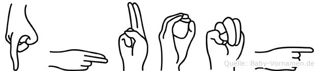 Phuong im Fingeralphabet der Deutschen Gebärdensprache