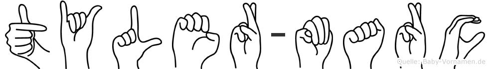 Tyler-Marc im Fingeralphabet der Deutschen Gebärdensprache