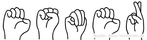 Esmer im Fingeralphabet der Deutschen Gebärdensprache