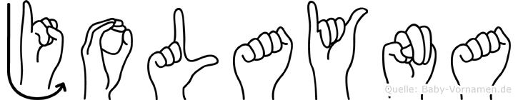 Jolayna in Fingersprache für Gehörlose