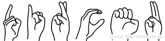 Dirceu im Fingeralphabet der Deutschen Gebärdensprache