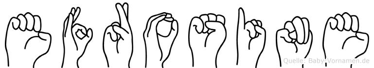 Efrosine in Fingersprache für Gehörlose