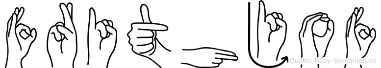 Frithjof im Fingeralphabet der Deutschen Gebärdensprache