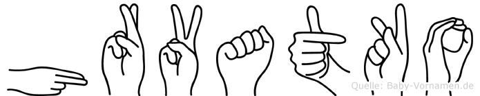 Hrvatko in Fingersprache für Gehörlose