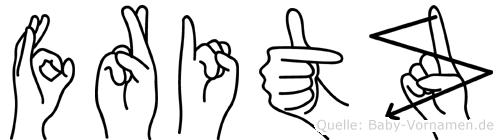 Fritz in Fingersprache für Gehörlose