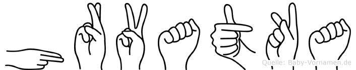Hrvatka in Fingersprache für Gehörlose