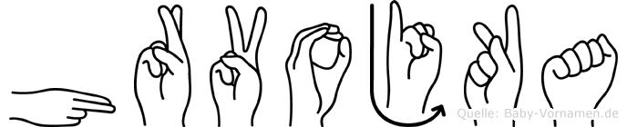 Hrvojka in Fingersprache für Gehörlose