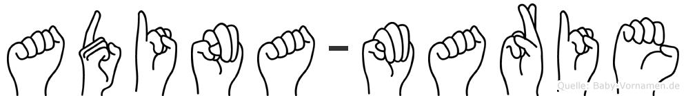 Adina-Marie im Fingeralphabet der Deutschen Gebärdensprache