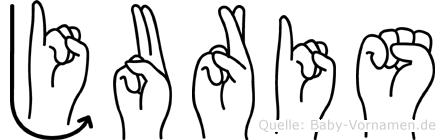 Juris in Fingersprache für Gehörlose