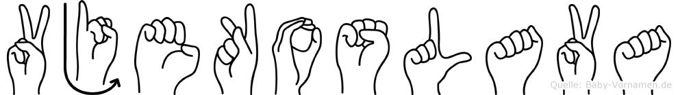 Vjekoslava in Fingersprache für Gehörlose