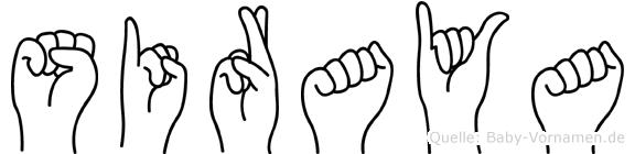 Siraya im Fingeralphabet der Deutschen Gebärdensprache