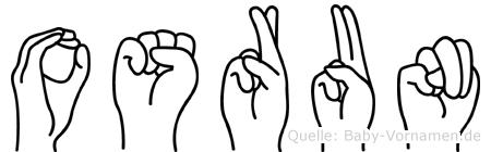 Osrun im Fingeralphabet der Deutschen Gebärdensprache