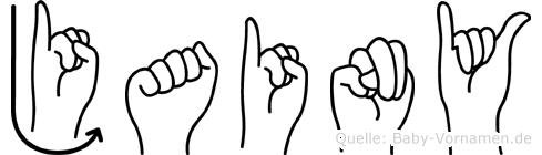 Jainy in Fingersprache für Gehörlose