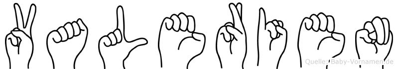 Valerien im Fingeralphabet der Deutschen Gebärdensprache