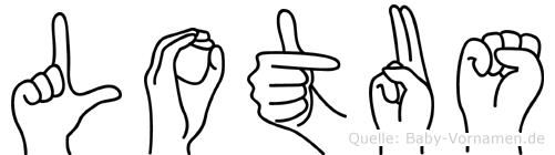 Lotus in Fingersprache für Gehörlose