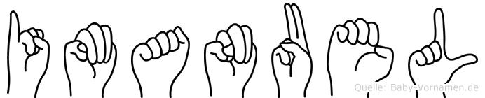 Imanuel in Fingersprache für Gehörlose