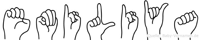 Emiliya in Fingersprache für Gehörlose