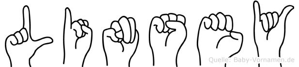 Linsey im Fingeralphabet der Deutschen Gebärdensprache