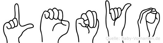 Lenyo in Fingersprache für Gehörlose