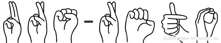 Urs-Reto im Fingeralphabet der Deutschen Gebärdensprache