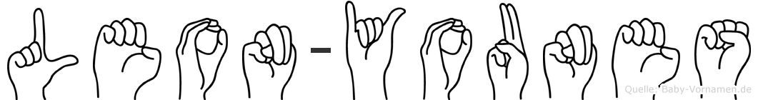 Leon-Younes im Fingeralphabet der Deutschen Gebärdensprache