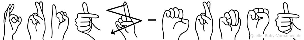 Fritz-Ernst im Fingeralphabet der Deutschen Gebärdensprache