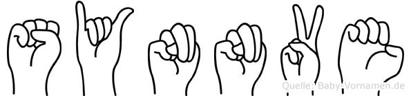 Synnöve in Fingersprache für Gehörlose