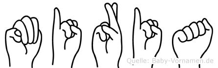 Miria in Fingersprache für Gehörlose