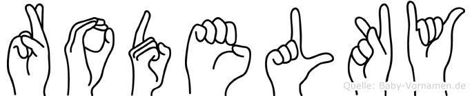 Rodelky in Fingersprache für Gehörlose