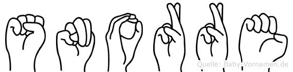 Snorre in Fingersprache für Gehörlose