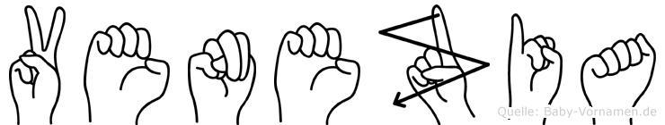 Venezia in Fingersprache für Gehörlose