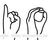 Io in Fingersprache für Gehörlose