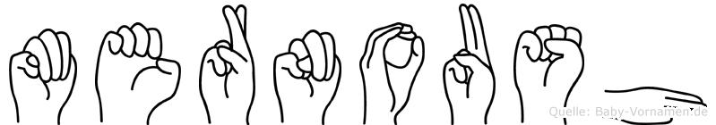 Mernoush im Fingeralphabet der Deutschen Gebärdensprache