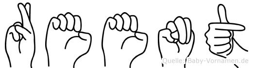 Reent im Fingeralphabet der Deutschen Gebärdensprache