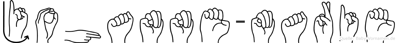 Johanne-Marie im Fingeralphabet der Deutschen Gebärdensprache