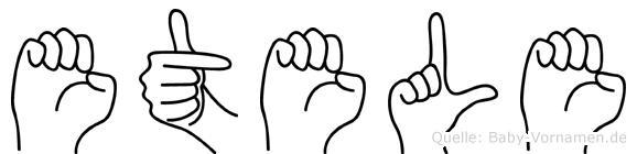 Etele im Fingeralphabet der Deutschen Gebärdensprache