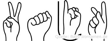 Vajk in Fingersprache für Gehörlose