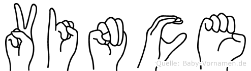 Vince in Fingersprache für Gehörlose