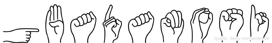Gbadamosi im Fingeralphabet der Deutschen Gebärdensprache
