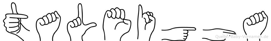 Taleigha in Fingersprache f�r Geh�rlose