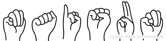 Maisun im Fingeralphabet der Deutschen Gebärdensprache