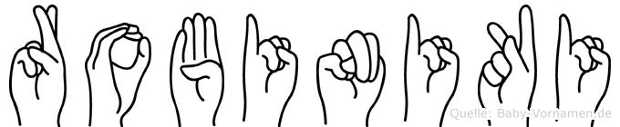Robiniki im Fingeralphabet der Deutschen Gebärdensprache