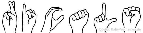 Ricals in Fingersprache für Gehörlose